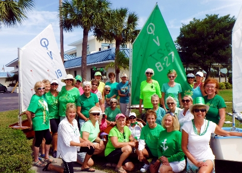 St Patrick's Day Sail Group Picture